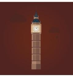 Big Ben in Flat Design vector image