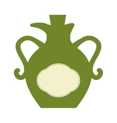 Olive oil bottle icon organic and healthy food vector