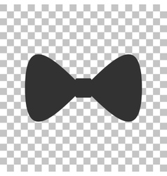 Bow tie icon dark gray icon on transparent vector