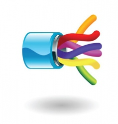 adsl line illustration vector image vector image