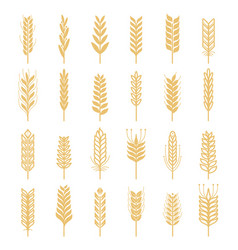 agricultural icons set nature pictures of vector image vector image