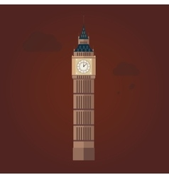 Big ben in flat design vector