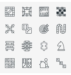 Board and party games outline icons vector