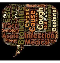 bronchitis symptom treatment text background vector image vector image