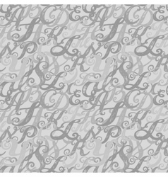 Calligraphy alphabet typeset lettering vector image vector image