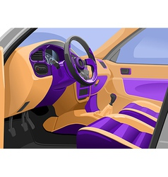 car interior vector image