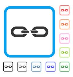 chain break framed icon vector image