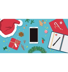 Christmas decorationspreparing for christmas card vector