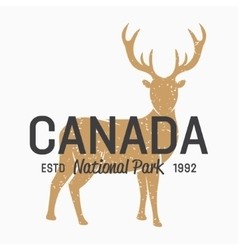 Deer logo design elements vector