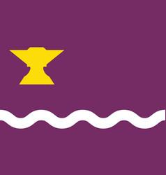 Flag of sant adria de besos in barcelona of spain vector