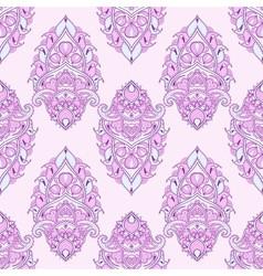 Floral leaf pink lotus vector