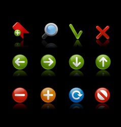 Gel Icons Round Navigation Black vector image