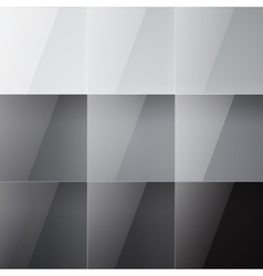 Gray shiny squares abstract background vector image vector image