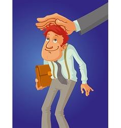 hand big boss vector image