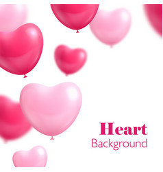 hearts balloon white background vector image