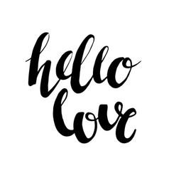hello love romantic phrase photo overlay vector image vector image