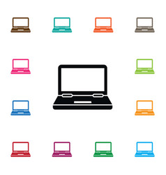 isolated monitor icon computing element vector image vector image