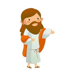 Jesus christ standing vector