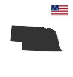 map of the us state of nebraska vector image vector image