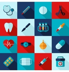 Medical Icons Flat Set vector image
