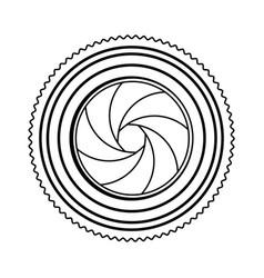 Monochrome contour of analog camera lens vector