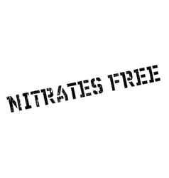 Nitrates free rubber stamp vector