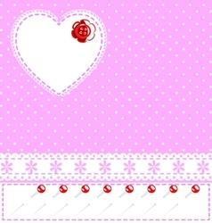 pink sewing fantasy vector image vector image