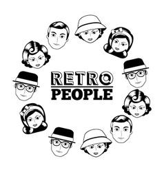 Retro people vector