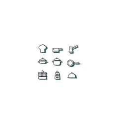 simple cooking set vector image