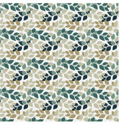 Twigs with leaves seamless pattern turkuoise and vector