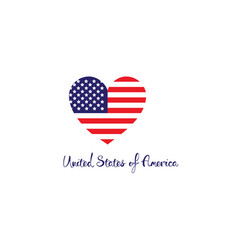 United states of america concept red white blue vector