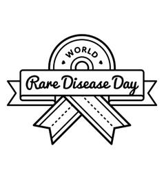 World rare disease day greeting emblem vector