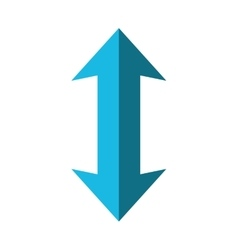 Double arrow icon direction design vector