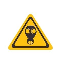Gas yellow warning sign vector