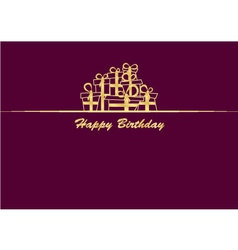 Greeting card with gifts vector