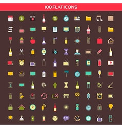 Collection flat icons vector
