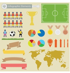Football infographics vector image