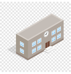 School building isometric icon vector
