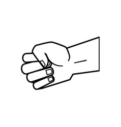 hand human fist isolated icon vector image