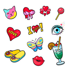 Comic book style stickers vector