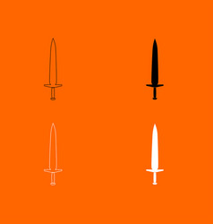 Simple sword icon vector