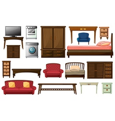 House furnitures and appliances vector image