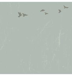 doves in sky vector image