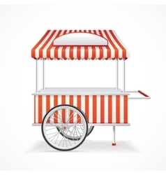 Market cart vector