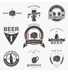 Beer pub set beer festival oktoberfest brewing vector