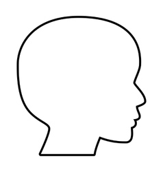 Human head silhouette line icon vector