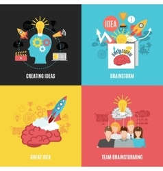 Set of 2x2 brainstorm compositions vector