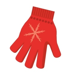 Winter glove icon vector