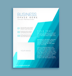 Abstract blue and white brochure flyer design vector