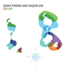 Abstract color map of Saint-Pierre and vector image